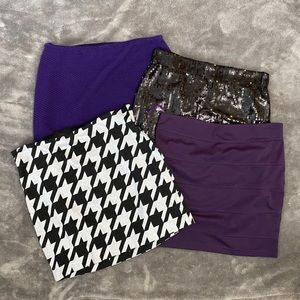 Lot of 4 skirts. Business casual. Dressy. SzL/14
